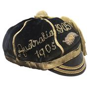 Sale 8733 - Lot 1 - New Zealand All Blacks Rugby Honour Cap 1905