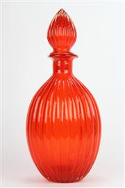 Sale 8658 - Lot 40 - Large Coloured Glass Decanter