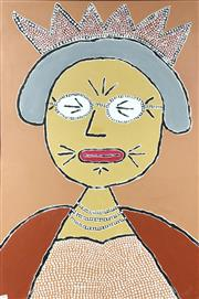 Sale 8833 - Lot 2075 - Swift.I Auntie Lizzie acrylic on canvas, 108.5 x 70cm, signed and inscribed verso,