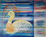Sale 8938 - Lot 557 - Luis Geraldes (1957 - ) - Bird of Paradise, 2003 122 x 152 cm