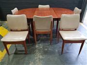Sale 8984 - Lot 1030 - Vintage Parker Teak Extension Dining Table (H:73 x L:115 / 175 x W:120cm) and 6 Chairs (H:80 x W:46cm)