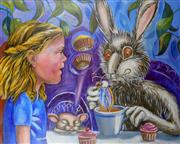 Sale 9002A - Lot 5036 - Amabile Dalfarra-Smith - Take Some More Tea (A Walk in The Wonderland Series) 61 x 76 cm