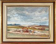Sale 9053 - Lot 2043 - Ronald Steuart (1898 - 1988) - Sweeping Bathurst Plain 26 x 36.5 cm (frame: 39 x 49 x 3 cm)