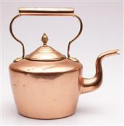 Sale 9060 - Lot 84 - A copper kettle (H25.5cm)