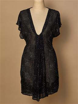 Sale 9093F - Lot 66 - An All Saints black beaded top size 12