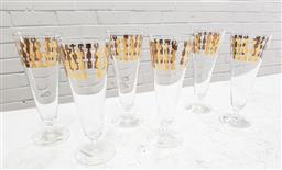 Sale 9117 - Lot 1087 - Suite of 6 mid century modern chess themed cocktail glasses (h:17cm)