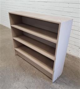 Sale 9137 - Lot 1098 - Painted open timber bookcase (h100 x w120 x d28cm)