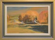 Sale 8297 - Lot 553 - Colin Parker (1941 - ) - The Footbridge at Evans Plains, Bathurst 44.5 x 70cm