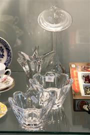 Sale 8360 - Lot 86 - Orrefors Pair of Vases with Other Crystal Wares