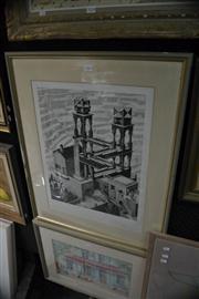 Sale 8441T - Lot 2043 - M.C.Escher, framed print