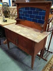 Sale 8462 - Lot 1098 - Tiled Back Wash Stand