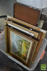 Sale 8544 - Lot 2070 - Group of 11 Assorted Artworks by Various Artists inc Original Oils on Canvas and Acrylics in Various Frames and Sizes