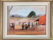 Sale 8589R - Lot 31 - Rick Elliot - Oil on Board (40 x 29.5cm)