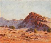 Sale 8595 - Lot 2016 - Vicki Darken (1929 - ) - Central Australian Landscape 26 x 30.5cm