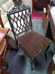 Sale 8601 - Lot 1091 - Cast Metal Framed Bedroom Chair