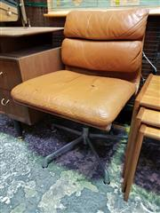 Sale 8661 - Lot 1096 - Charles & Ray Eames Aluminium Leather Group Side Chair for Herman Miller