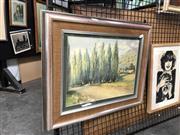 Sale 8784 - Lot 2028 - Artist Unknown - Rural Landscape (Tweed Valley), watercolour, 26x36cm