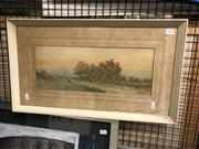 Sale 8841 - Lot 2050 - Henry Tevvett, Country Landscape with Figure, Watercolour, Signed