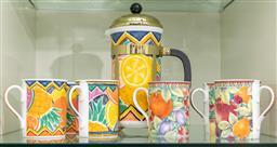 Sale 9256H - Lot 100 - A Royal Grafton Fruit Festival coffee suite for six, coffee pot H25cm.