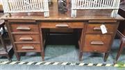 Sale 8390 - Lot 1561 - Oak Twin Pedestal Desk