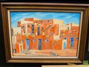 Sale 8407T - Lot 2002 - David Moad (XX) - Taos Pueblo 60 x 90cm