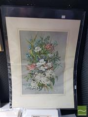 Sale 8544 - Lot 2031 - Ellis Rowan (2 works) C19th chromolithographs Australian Wild Flowers, 57 x 39cm, each (unframed/mounted)