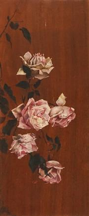 Sale 8595 - Lot 2028 - Artist Unknown - Pink Roses 61.5 x 25.5cm