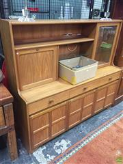 Sale 8625 - Lot 1075 - Nathan Teak High Back Sideboard (H: 138 W: 153 D: 48cm)