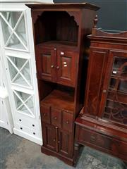 Sale 8740 - Lot 1008 - Tall Slim Timber Cabinet with Four Doors & Three Drawers
