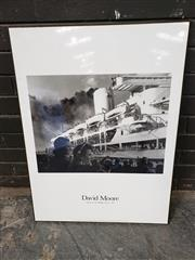 Sale 8961 - Lot 2067 - Exhibition Poster: David Moore: Departure of the Himalaya, Sydney 1950  (mounted on board), 82 x 62cm