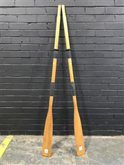 Sale 8988 - Lot 1027 - Pair of Viking Timber Oaks (180cm)