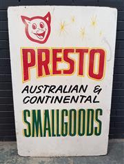 Sale 9022 - Lot 1010 - Vinatage Presto Advertisement Sign (H156 x W102cm)