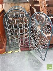 Sale 8455 - Lot 1025 - Cast Iron Cage Wine Rack