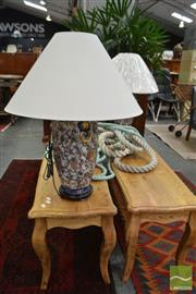 Sale 8480 - Lot 1175 - Pair of Royal Satsuma Style Table Lamps (4110)