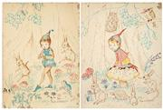 Sale 8538 - Lot 595 - Pixie OHarris (2 works) (1903 - 1991) - Nursery Rhyme Illustrations 68.5 x 51cm, each