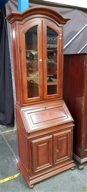 Sale 8601 - Lot 1144 - Drop Front Bureau with Bookshelf Above (H:206 W:65 D:41cm)