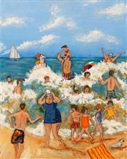 Sale 8652A - Lot 5035 - Stanley Perl (1942 - ) - Fun in the Sun II 51 x 40cm