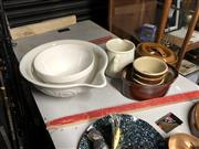 Sale 8789 - Lot 2293 - Collection of Kitchen Wares incl. Mixing Bowls, Jug, Casserole Dish, etc