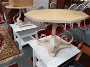 Sale 8822 - Lot 1185 - Pair of Octagonal Top Side Tables