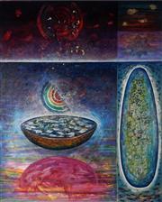 Sale 8938 - Lot 556 - Luis Geraldes (1957 - ) - Embryonic Life, 2002 153 x 121 cm
