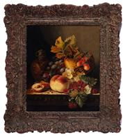 Sale 8994H - Lot 74 - Edward Ladell (1821 - 1886) - still life framed size 51 x 45cm