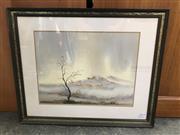 Sale 9024 - Lot 2054 - Artist Unknown Barren Landscape, watercolour, frame: 50 x 61 cm, unsigned -