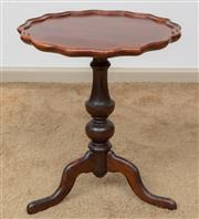 Sale 9058H - Lot 69 - A cedar tripod table with shaped tray top, Diameter 45cm x Height 52cm
