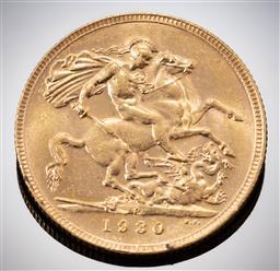 Sale 9153C - Lot 305 - 1930 AUSTRALIAN SOVEREIGN; King George V, Perth mint, 22ct gold, wt. 7.98g.