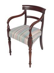 Sale 8379A - Lot 94 - A Regency mahogany Arm Chair  English circa 1815  H:  83 W: 50 D: 45