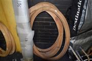 Sale 8419T - Lot 2046 - Raw Finished Wooden Shaped Frames (4)