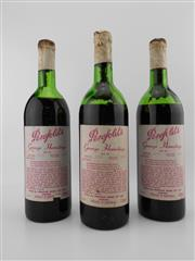 Sale 8498 - Lot 1878 - 3x 1972 Penfolds Bin 95 Grange Hermitage (Shiraz), South Australia - all ullage and in poor condition