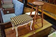 Sale 8542 - Lot 1063 - French Style Foot Stool & Timber Bar Stool (2)