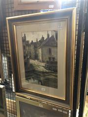 Sale 8824 - Lot 2023 - Frank Lewis Emanuel (1865 - 1948) - Old House on Beavron watercolour, 52 x 40.5cm, signed lower left