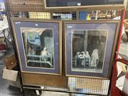 Sale 8888 - Lot 2081 - Artist Unknown (2 works) - Middle Eastern Scenes pastel on paper, 71 x 56cm (frames), signed